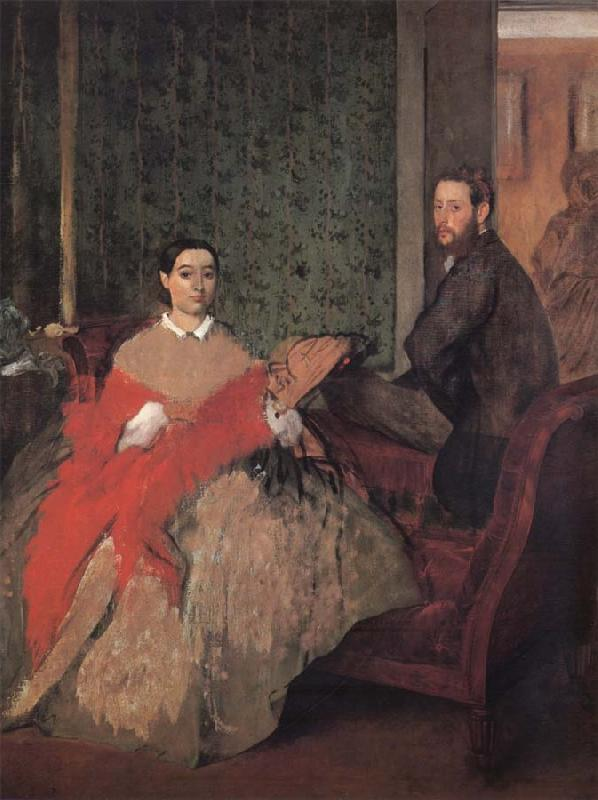 Edgar Degas M.et M Edmond Morbilli oil painting picture