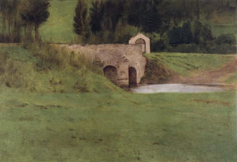 Fernand Khnopff The Bridge at Fosset oil painting picture