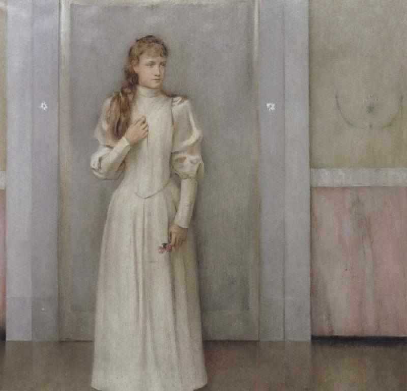 Fernand Khnopff Posthumous Portrait of Margueite Landuyt oil painting picture