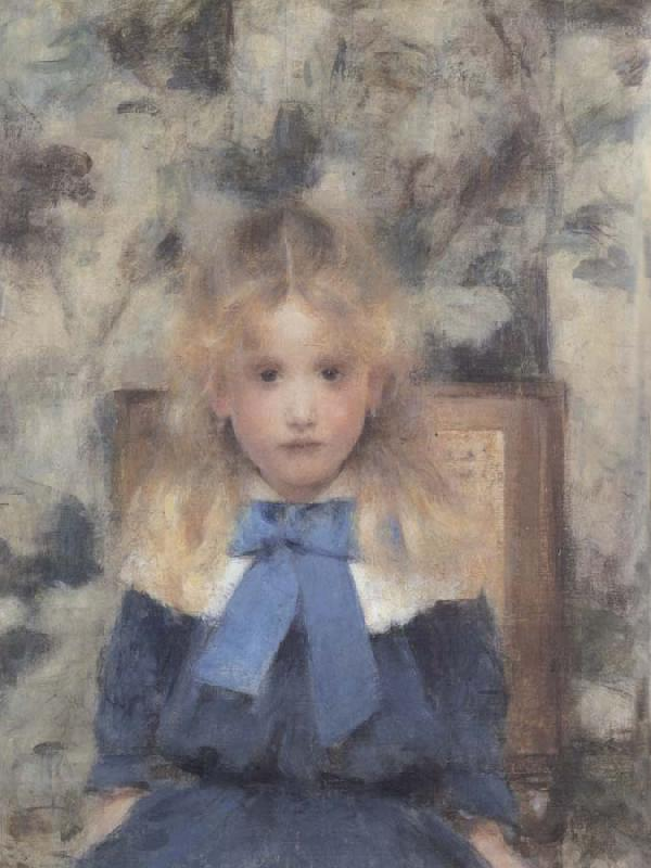 Fernand Khnopff Portrait of Miss Van Der Hecht oil painting picture