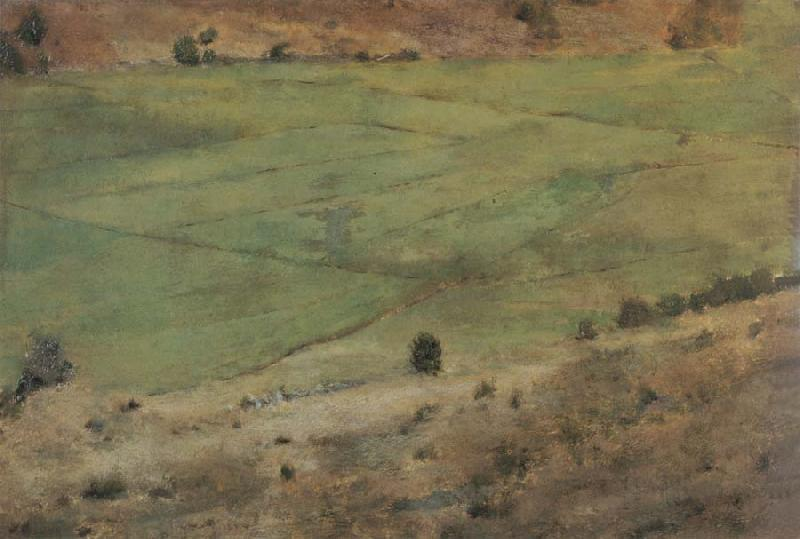 Fernand Khnopff In Fosset.Grass oil painting image
