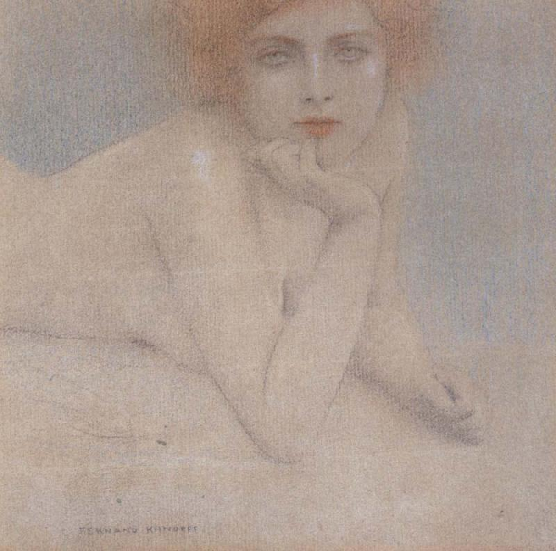 Fernand Khnopff Nude Study oil painting picture