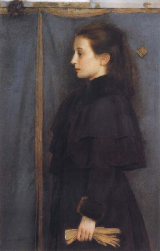 Fernand Khnopff Portrait of Jeanne de Bauer oil painting picture