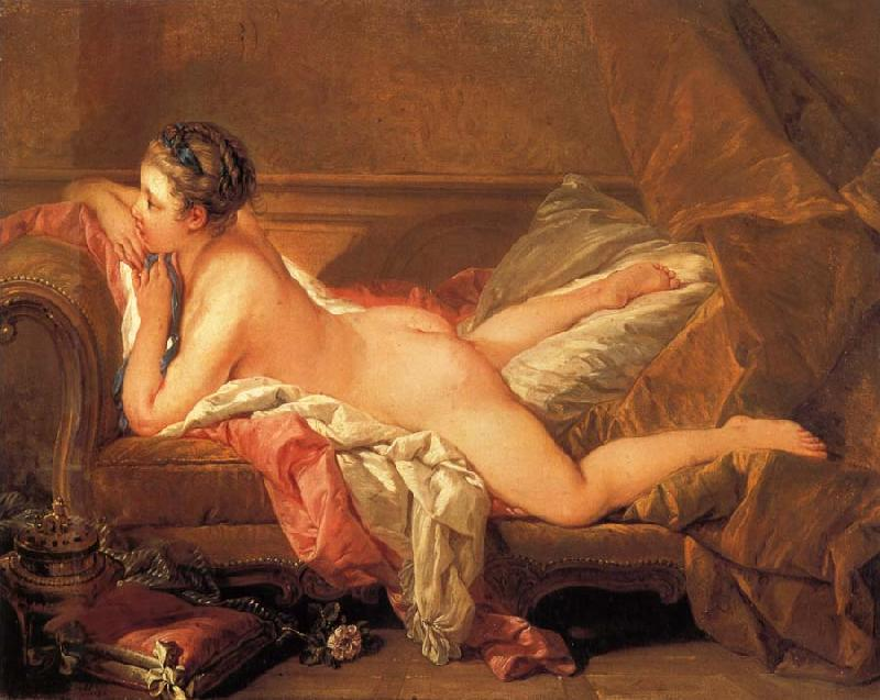 Francois Boucher Reclining Gril oil painting picture