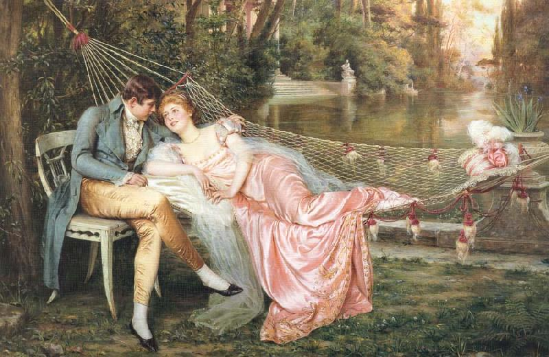 Frederic Soulacroix A Secret Liaison oil painting picture