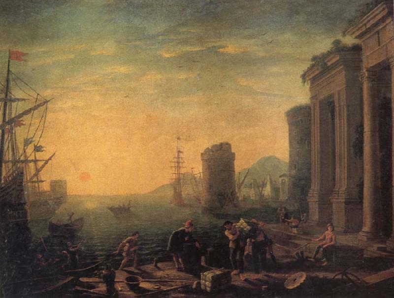 GILLOT, Claude Morning in the Harbour oil painting image