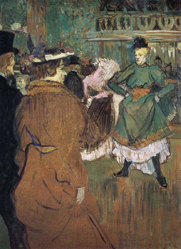 Henri  Toulouse-Lautrec Le Depart du Qua drille au Moulin Rouge oil painting picture