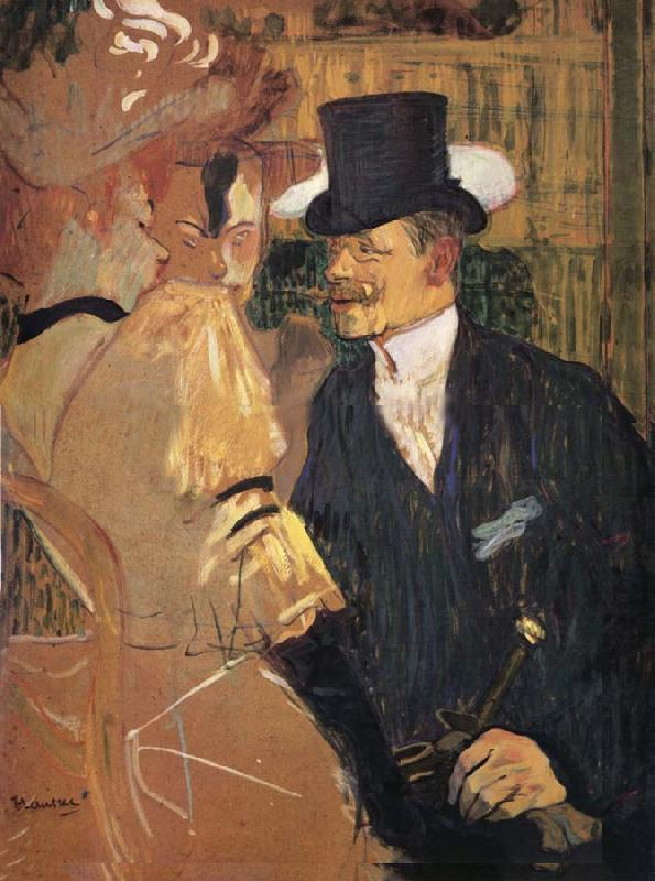 Henri  Toulouse-Lautrec L-Auglais au Moulin-Rouge oil painting picture