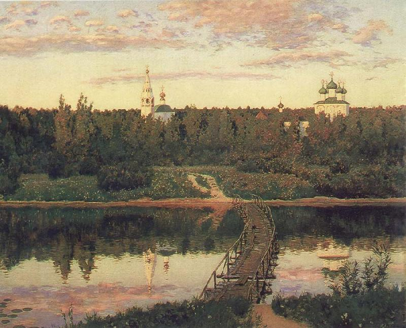 Isaac Ilich Levitan The Quiet Monastery oil painting picture