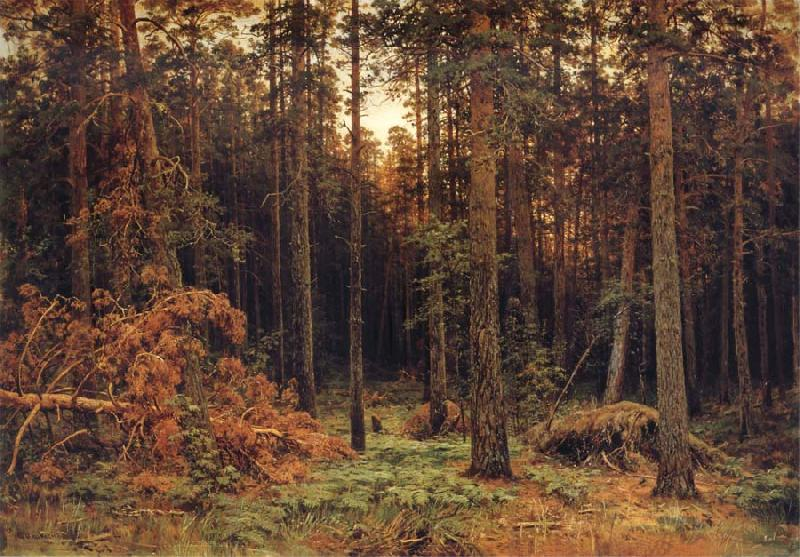 Ivan Shishkin Pine tree oil painting picture