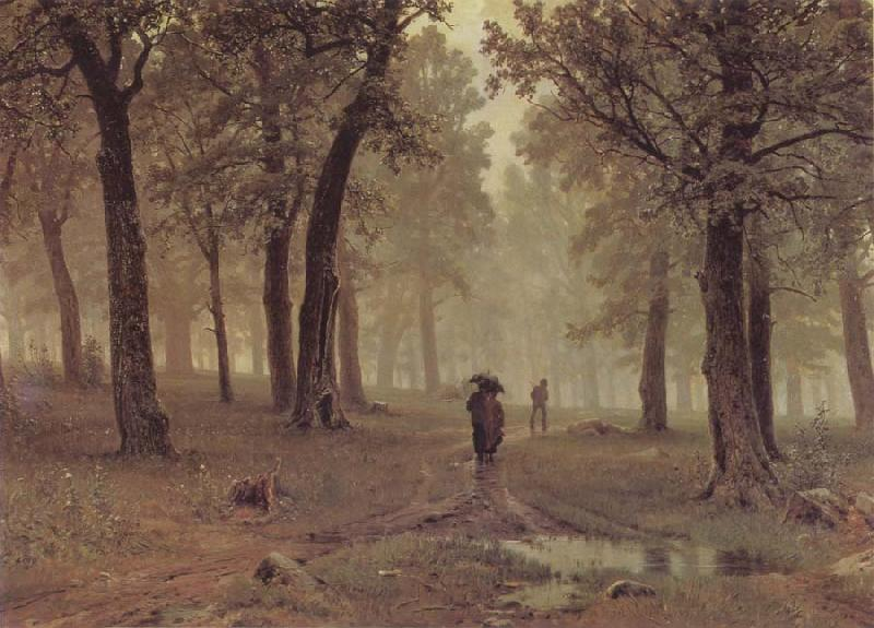 Ivan Shishkin Rain in an Oak Forest oil painting picture
