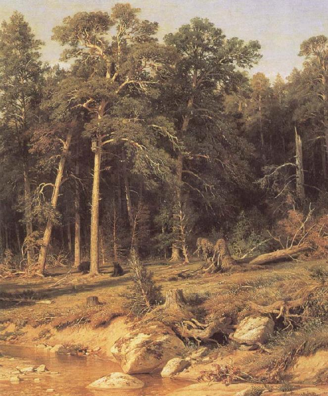 Ivan Shishkin A Pine Forest Mast-Timber forest in Viatka Province oil painting picture
