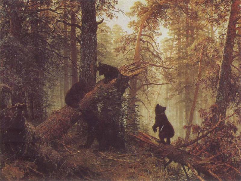 Ivan Shishkin Morning in a Pine Forestf oil painting picture