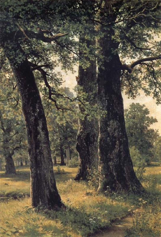 Ivan Shishkin Oak oil painting image