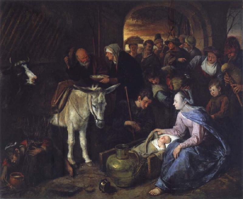 Jan Steen The Adoration of the Shepberds oil painting picture