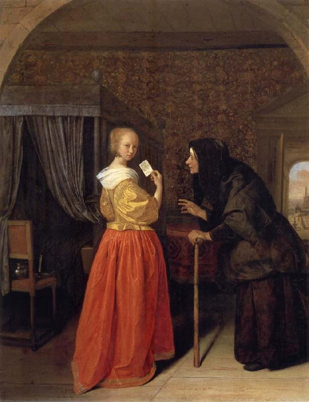 Jan Steen Bathsheba Receiving David-s Letter oil painting picture