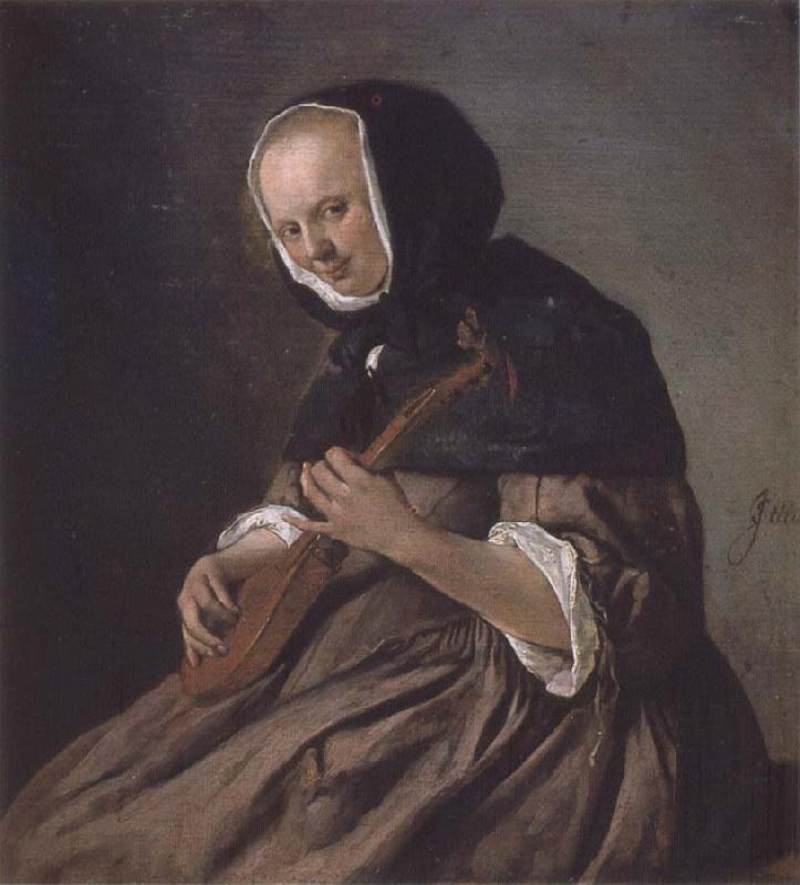 Jan Steen Woman Playing the cittern oil painting picture