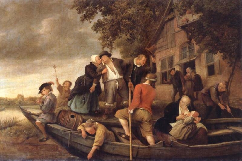 Jan Steen The Merry  Homecoming oil painting picture