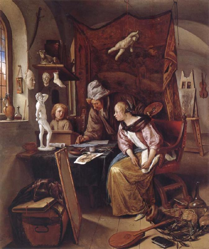 Jan Steen The During Lesson oil painting picture