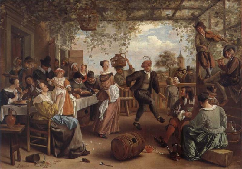 Jan Steen The Dancing couple oil painting picture