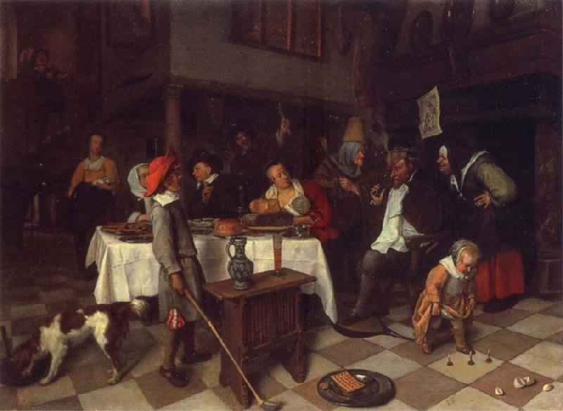 Jan Steen Twelfth Night oil painting picture