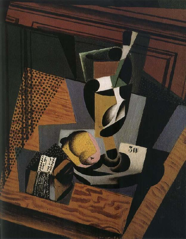 Juan Gris The still lief having cut and tobacco oil painting image