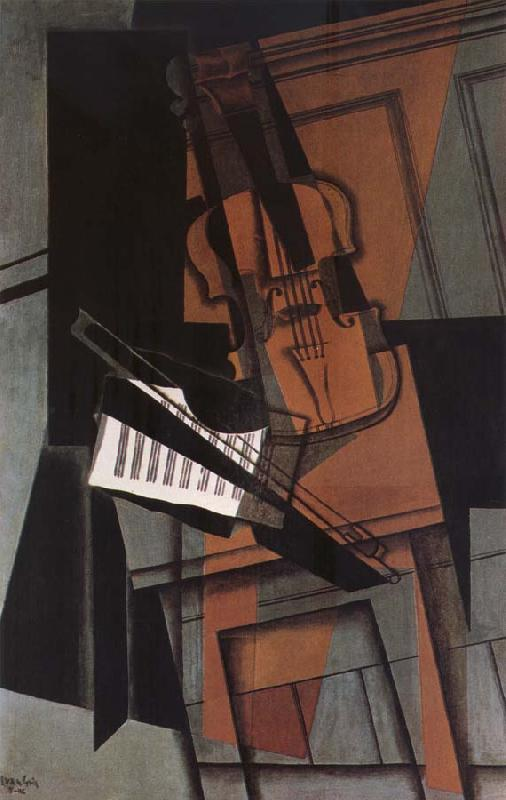 Juan Gris Fiddle oil painting image