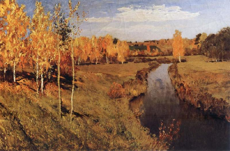 Levitan, Isaak Golden Autumn oil painting picture