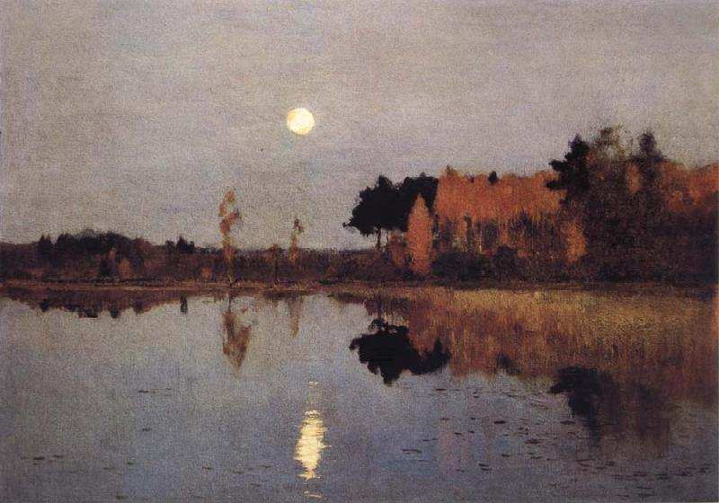 Levitan, Isaak Eventide-Moon oil painting picture