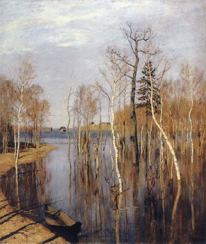 Levitan, Isaak Spring-inundation oil painting picture