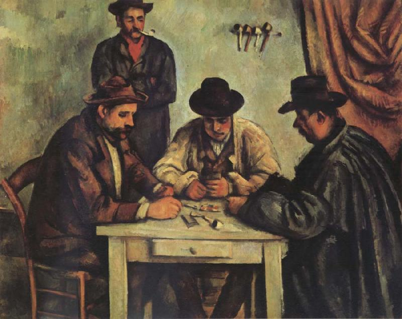 Paul Cezanne Les Foueurs de Cartes oil painting picture