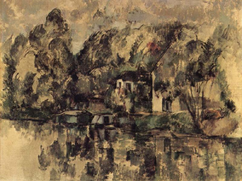 Paul Cezanne Au Bord de l-Eau oil painting picture