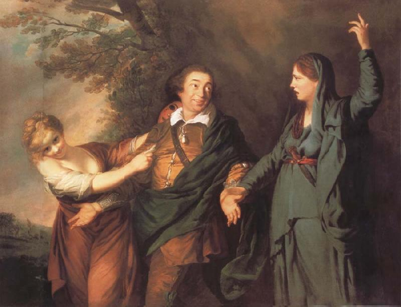 REYNOLDS, Sir Joshua Garrick Between tragedy and comedy oil painting picture