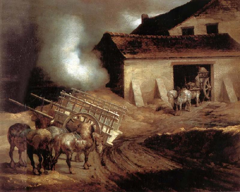 Theodore Gericault The Limekiln oil painting picture