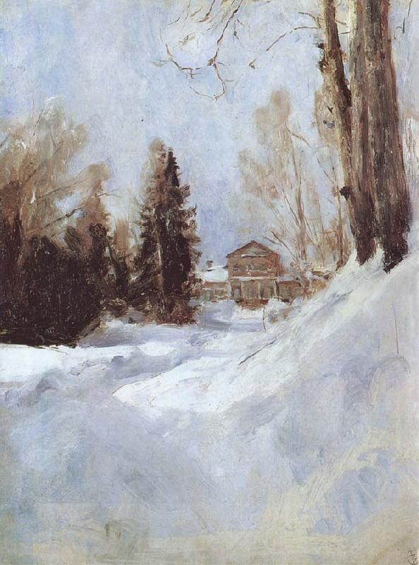Valentin Serov Winter in Abramtsevo A House oil painting picture