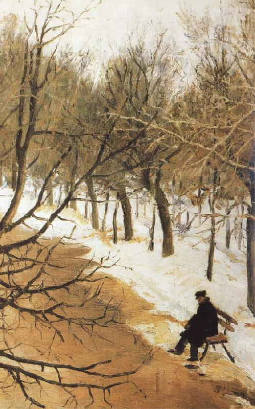Vasily Surikov Boulevard Zubov in Winter oil painting picture
