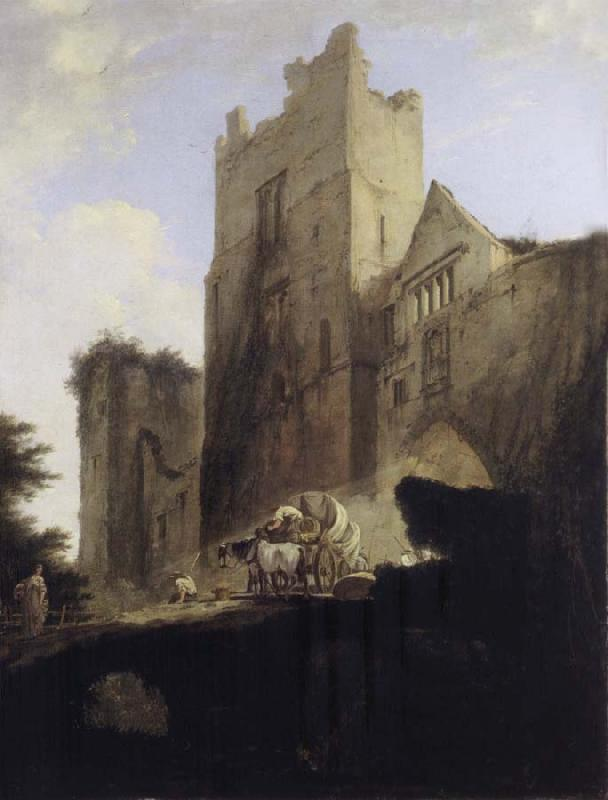 William Hodges View of Part of Ludlow Castle in Shropshire oil painting picture