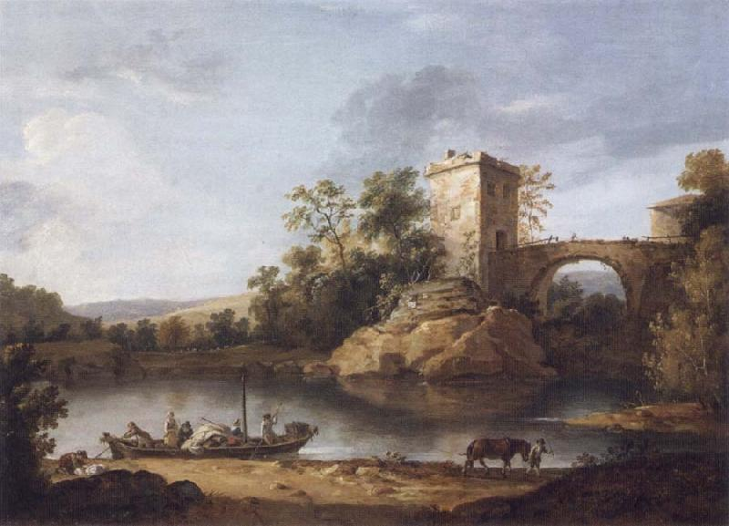 William Hodges Italianate Landscape oil painting picture