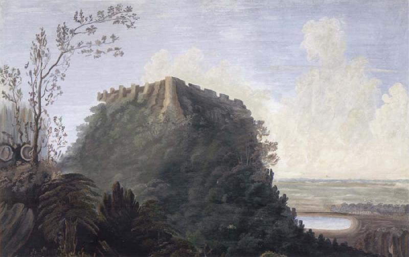 unknow artist South-east View of the Fort of Bijaigarh oil painting picture