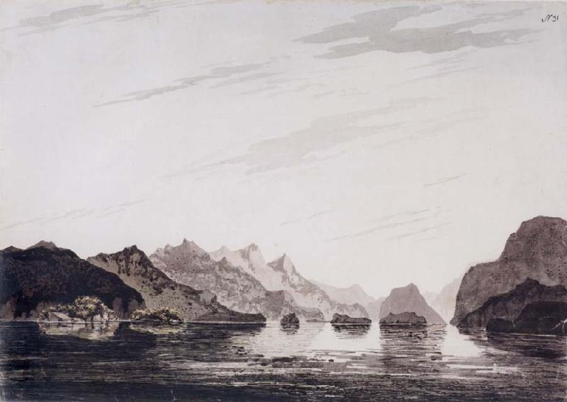 unknow artist In Dusky Bay,New Zealand March 1773 oil painting picture