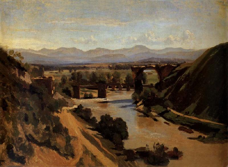 Corot Camille The bridge of Narnl oil painting image