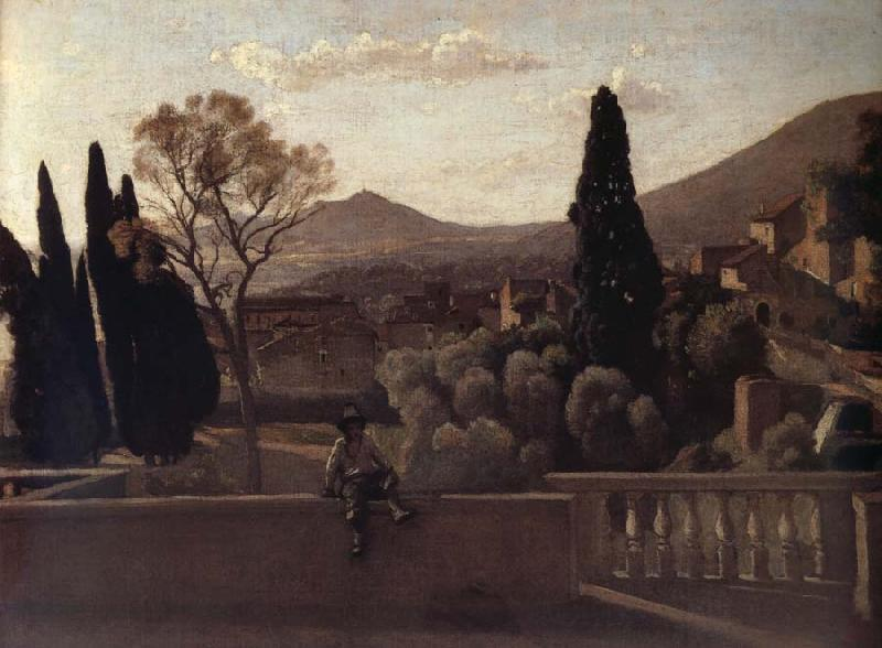 Corot Camille Tivoli The gardens of the village oil painting image