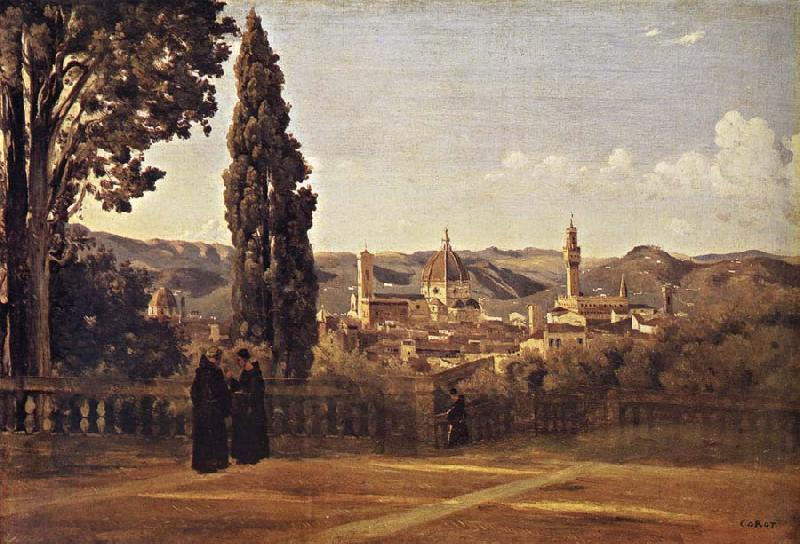 Corot Camille Florence Since the Gardens of Boboli oil painting image