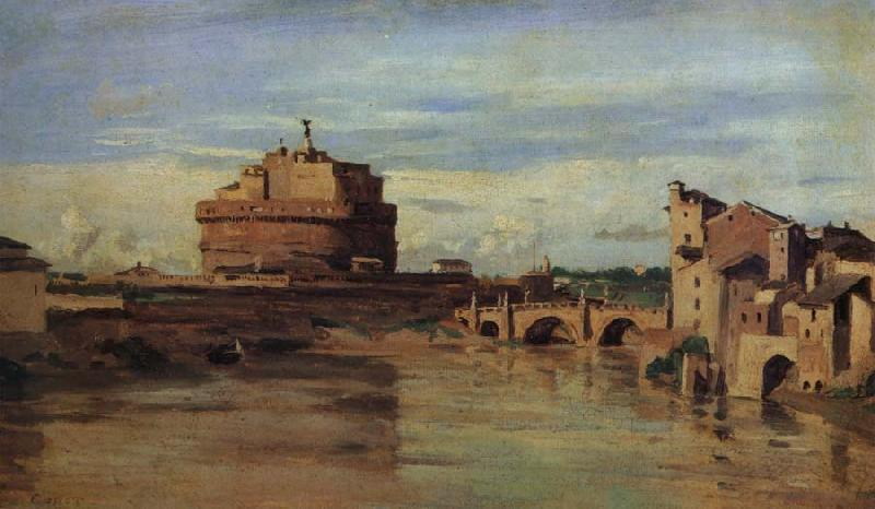 Corot Camille The castle of Sant Angelo and the Tiber oil painting image