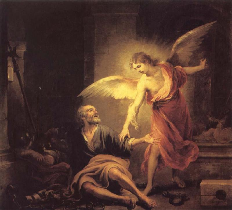 Bartolome Esteban Murillo The Liberation of The Apostle peter from the Dungeon oil painting image