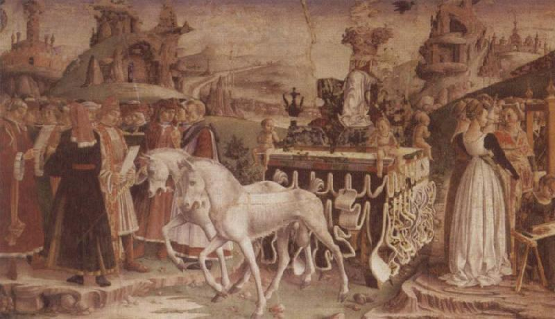 Francesco del Cossa The Triumph of Minerva March,From the Room of the Months oil painting image