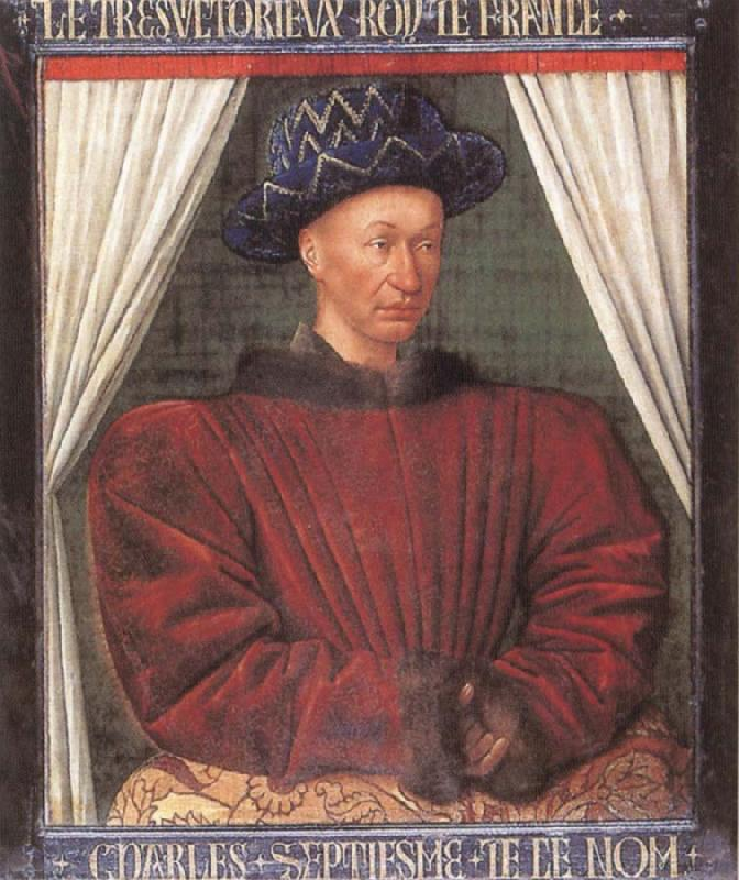 Jean Fouquet Portrait of Charles Vii of France oil painting image
