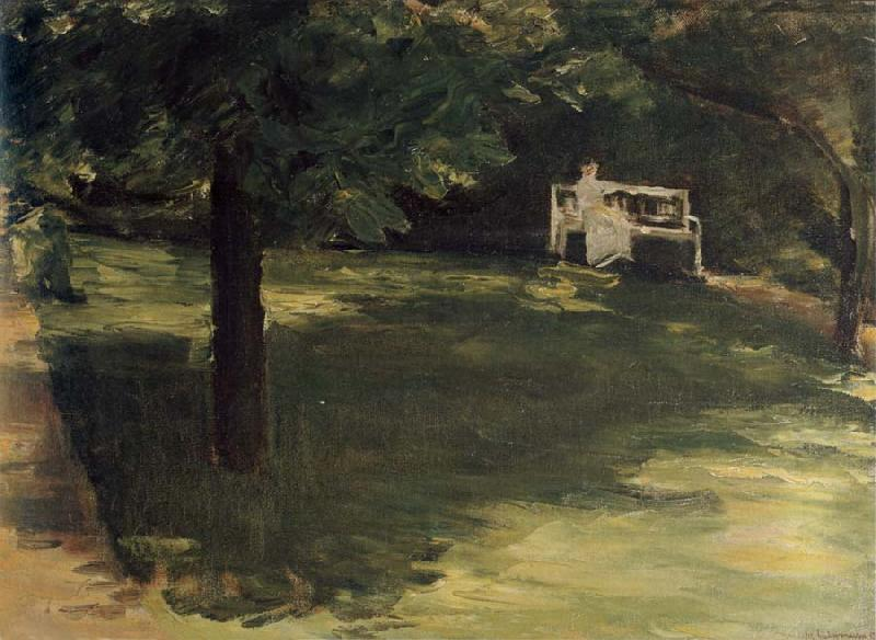 Max Liebermann Garden Bench beneath the Chesnut Treses in t he Wannsee Garden oil painting image