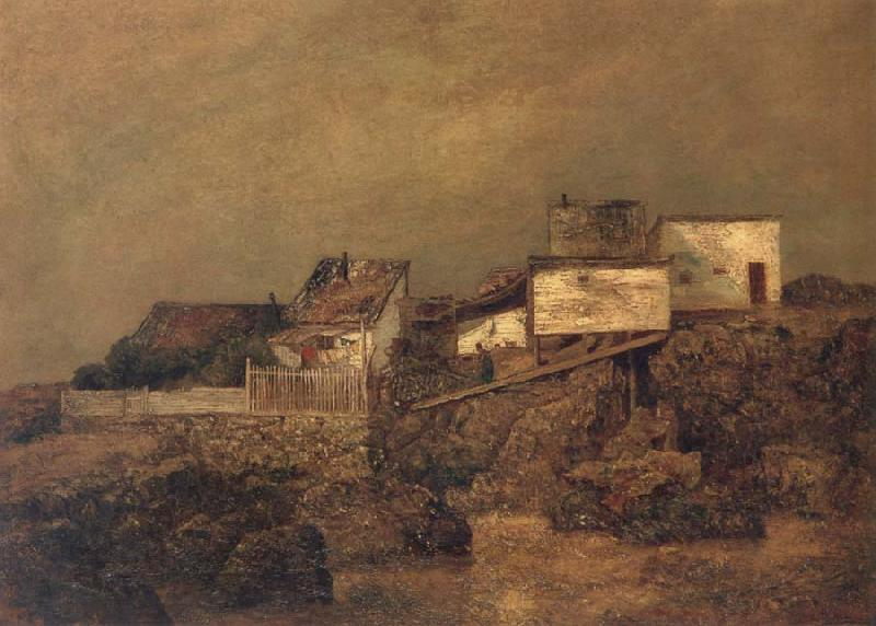 Ralph Blakelock Old New York Shanties at 55th Street and 7th Avenue oil painting image