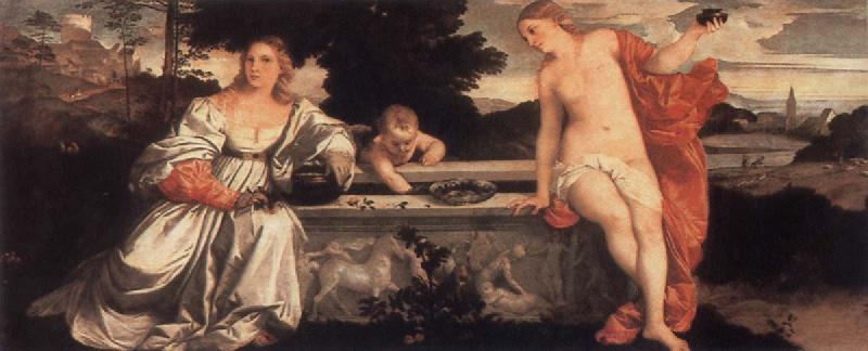 Titian Sacred and Profane Love oil painting picture